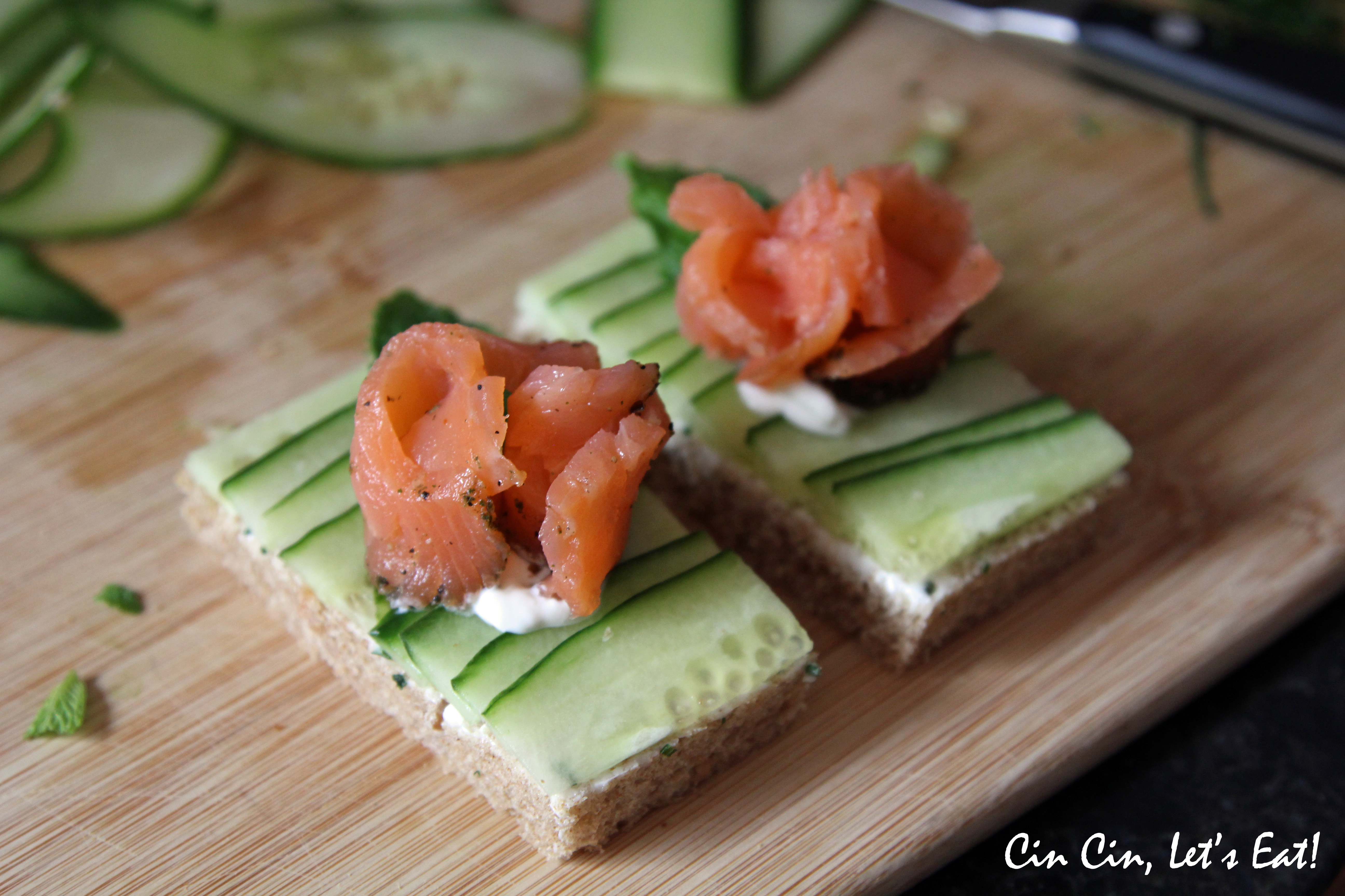 Smoked Salmon Sandwiches With Curried Almonds Recipes — Dishmaps
