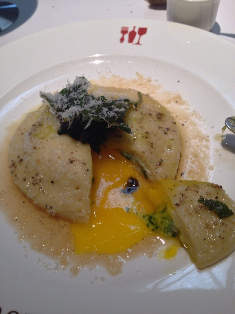 Raviolo With Egg Yolk In Truffle Scented Sage Brown Butter ...