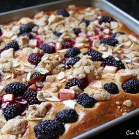 Apple and Blackberry Kuchen [recipe]