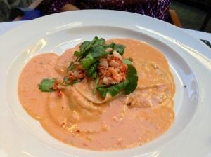 celadon-lobster ravioli
